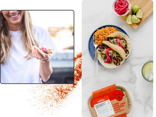 Collage of tacos and spices